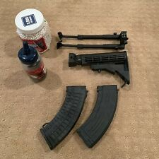 New listing 6,000 Airsoft BBs and Aristoft stock, bipod, and 2 magazines