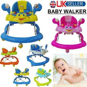 Baby Walker First Steps Push Along Bouncer Activity Music Ride On Car Music Toy