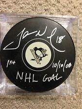 "James Neal Penguins W / ""1st NHL GOAL 10/10/08 "" Notations!! COA FROZEN POND"