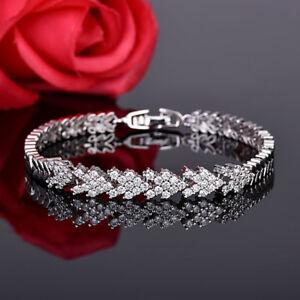 Dazzling Shine Multi Round Fire White Topaz Gems Silver Charm Bracelets