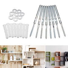 8pcs Hidden Floating Shelf Kit Concealed Metal Wall Mount Support Pins Home Tool