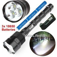 3800 Lumen CREE XML 3x T6 LED Flashlight Torch Lamp Light + Batteries + Charger