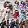 Toddler Baby Boy Girl Romper Hooded Jumpsuit Winter Warm Coat Outfit Playsuit US
