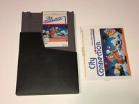 City Connection w/Manual & Sleeve Nintendo Nes Mint Condition Authentic