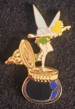 2000 DISNEYLAND PETER PAN'S TINK/TINKER BELL ON INKWELL DISNEY PIN, BLUE WINGS