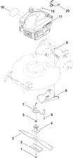 "Geninue Toro Recycler 21"" SUPPORTO LAMA 108-3766-03 108376603 -530 #V"
