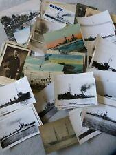 90 AK / Fotokarten Marine : Royal Navy , Kriegsmarine , Kreuzer , Zerstörer etc.