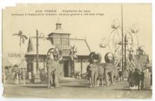c1910 Hanoi Tonkin Cochin China Exposition - elephants from Loas - Ferris wheel