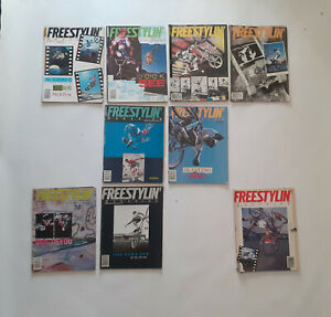 Old school BMX 80's - Lot 9 magazines FREESTYLIN' (USA) 1987