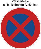 Halteverbot ´s Aufkleber Parken Verboten Halten Verboten Sticker ab 5cm