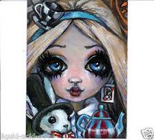 Aceo PRINT Alice in Wonderland zombie big eyes fantasy #94 art Liquid Acid Eyes