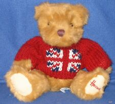 HARRODS KNIGHTSBRIDGE UNION JACK PLUSH BEAR - 10 INCH