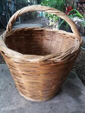 traditional  style round wicker woven shopping cookery vegetable basket