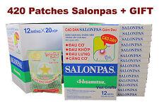 Lot de 420 Patchs = 35 Boites SALONPAS Soulagement Douleur Muscle Articulation