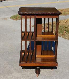 Tiger Oak Revolving Bookcase Shelf~~James Shoolbred and Co. London