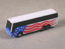 N Scale 2010 American Flag Tours Bus