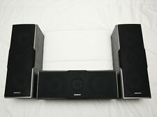 New listing Onkyo 3 pc. Surround Sound System Speakers Skf 540F Skc 540C 130 watts Tested