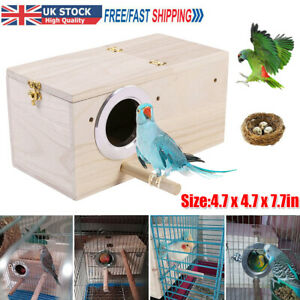 Wooden Bird Breeding Box Cage For Parrot Budgie Nesting House