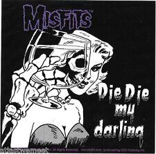 Misfits Die Die My Darling Sticker / Decal Horror Rock Punk Hardcore Halloween