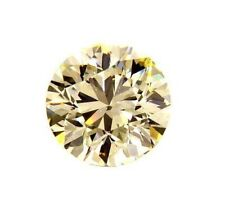 0.80 CT VVS2 GIA Certified Natural Round Cut Loose Diamond Light Yellow Color