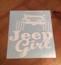 Jeep Girl Car Window Decal Vinyl Sticker