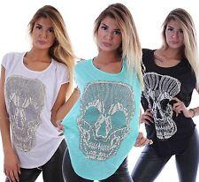 Ärmellose Damen-Shirts ohne Kragen für die Freizeit