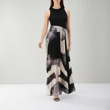 Coast Aria Geo Print Maxi Dress Mono Size 10 Short Vr161 04