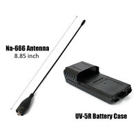 6XAA Extended 2 way radio Battery Case Shell for Baofeng UV-5R/plus with Antenna