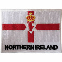Northern Ireland Flag Patch Sew On Clothes Jacket Ulster Irish Embroidered Badge