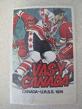 Russian Soviet USSR Vas-Y Canada Team Hockey Postcard Boris Kulagin 1974