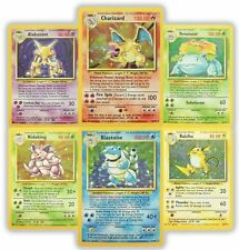 Pokemon cards 1st Base set RARE HOLO Blastoise Alakazam Charizard Venusaur M NM