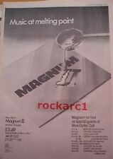 MAGNUM II album and Tour 1979 UK Poster size Press ADVERT 16x12 inches