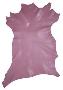 Goat skin, Premium Goat Leather, Full Goat Leather Hide, Lavender thin Purple