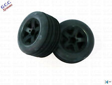 ECX Circuit 12mm Hex Front Wheels & Glued Grooved Tyres Set of 2 - Brand New