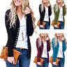 Women's V-Neck Button Knitwear Long Sleeve Basic Knit Snap Cardigan Sweater