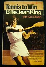 Billie Jean King Tennis to Win Book with Kim Chapin Paperback 1970 Guide to Play
