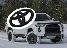 For Toyota 2010-2021 4Runner Matte Black Out Front Grille Bumper Overlay Emblem (Fits: Toyota)