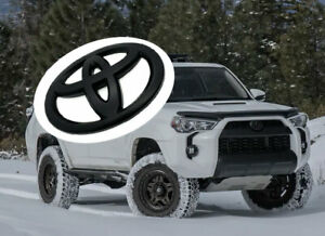 For Toyota 2010-2021 4Runner Matte Black Out Front Grille Bumper Overlay Emblem