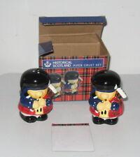 "ELGATE - UK  ""Historical Scotland PIPER Cruet Set"" SALT/PEPPER SHAKERS NRFB/MIMB"
