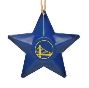 Golden State Warriors Christmas Tree Holiday Ornament - Team Logo Metal 3D Star