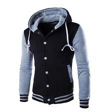 Men Coat Jacket Outwear Sweater Winter Slim Hoodie Warm Hooded Sweatshirt