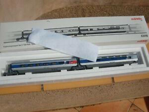 MARKLIN BEAU COFFRET COMPLEMENT REF 43446 VOITURE BAR / CENTRALE TGV POS SNCF