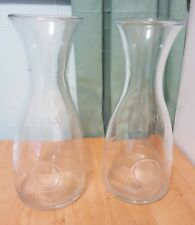 Lot 2 orange juice pitcher jar jug clear glass Made in Italy 1 liter litro