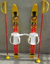 Kinderski Babyski Lernski 70cm Ski für Kinder in Farbe Gelb mit Clown