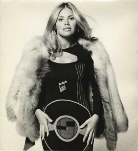 Britt Ekland Vintage Glamour Original Oversized Photo Stamped by Terry O'Neill