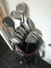 SET OF GOLF CLUBS, PING IRONS AND TAYLORMADE WOODS, RIGHT HANDED