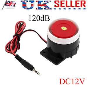 DC 12V 120dB Mini Loud Wired Horn Siren Sound Home Alarm System Indoor Accessory