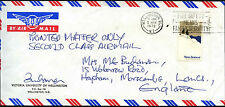 Nouvelle-Zélande 1972 commercial air mail cover to UK #C42178