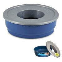 No Spill Bowl Dog Puppy Water Dish No Mess for Crate Road Travel Rv Ex Pen