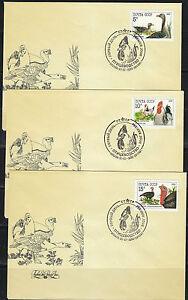 Soviet Russia 1990 set of 3 FDC covers Chicken farming.Farm Birds.Sc 5909-5911